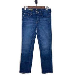 J. Crew women's matchstick denim blue jeans skinny straight 28 size 6